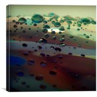 Water on Glass, Canvas Print