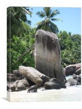 Seychelles Rocks, Canvas Print