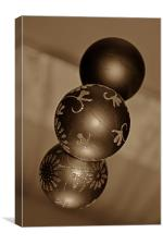 Christmas baubles.., Canvas Print