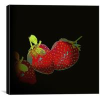 Fashion of Strawberries.., Canvas Print