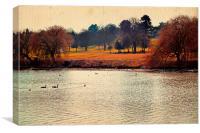 Scenery of park., Canvas Print