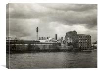 Old factory, Canvas Print