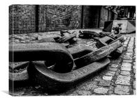 Anchor Chain in the Street, Canvas Print
