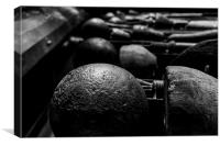 Mary Rose - Cannon Balls, Canvas Print