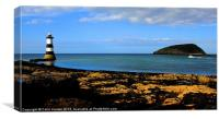 Trwyn Du Lighthouse., Canvas Print