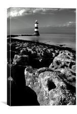 Trwyn Du Lighthouse, Canvas Print