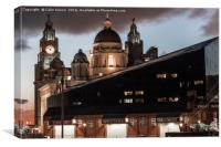 Liver Buildings from the Albert Dock, Canvas Print