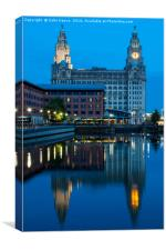 Liverpool - News at Ten, Canvas Print