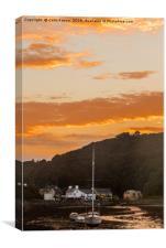 Sunrise in Solva, Canvas Print