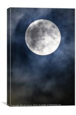 Supermoon, Canvas Print