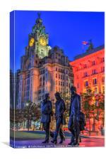 Pier Head, Liverpool, Canvas Print