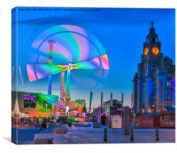 Pier Head Village, Canvas Print