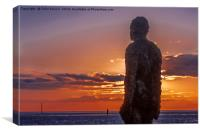 Anthony Gormley's 'Another Place', Canvas Print