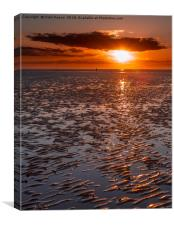 Sunset at Another Place, Canvas Print