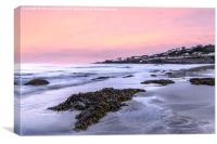 Coverack Sunset, Canvas Print
