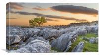 Ingleborough Sunset, Canvas Print