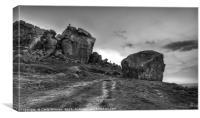 Cow & Calf Rocks, Canvas Print