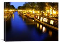 Amsterdam Canal, Canvas Print