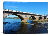 Perth Bridge ( Smeatons Bridge), Canvas Print