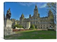 CITY CHAMBERS GEORGE SQUARE GLASGOW, Canvas Print