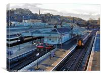 SCOTRAIL TRAIN AT STIRLING STATION, Canvas Print