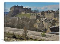 EDINBURGH CASTLE FROM THE TERRACE, Canvas Print