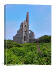 CARN GALVER TIN MINE CORNWALL, Canvas Print