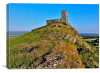ST MICHAEL DE RUPE CHURCH BRENTOR, Canvas Print