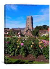 DREAM GARDEN AND ST GEORGE DUNSTER, Canvas Print