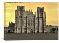 SEPIA WELLS CATHEDRAL WEST FRONT, Canvas Print