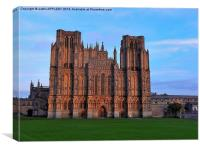 WINTER SUNSET ON WELLS CATHEDRAL, Canvas Print