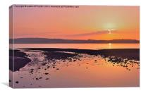 RED SKY NIGHT CUMBRAE DELIGHT, Canvas Print