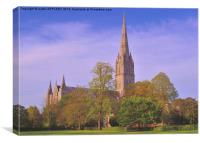 SALISBURY CATHEDRAL SPIRE, Canvas Print