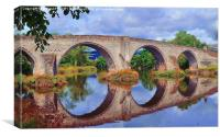Old Stirling Bridge Reflections, Canvas Print