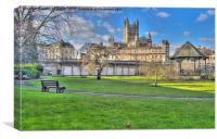 Bath Abbey from Parade Gardens, Canvas Print