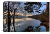Last Light At Loch Lomond , Canvas Print