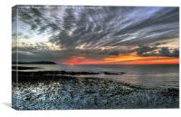 West Somerset Coastline Sunset, Canvas Print