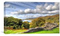 Looking over Llyn Padarn, Canvas Print