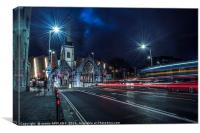 Light Trails Charles Church Plymouth, Canvas Print