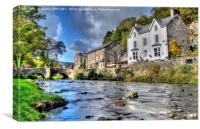 Autumn At Beddgelert , Canvas Print