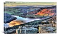 Last Light Over Ladybower Reservoir, Canvas Print