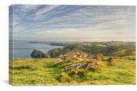 Above Mullion Cove, Canvas Print