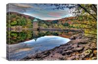 Penygarreg Reservoir Damn Elan Valley, Canvas Print