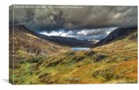 Dark Clouds Over Llyn Ogwen, Canvas Print