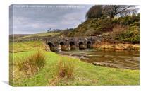 Landacre Bridge Exmoor In Winter, Canvas Print