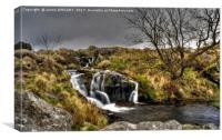Black Tor Falls Dartmoor , Canvas Print