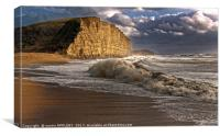 West Bay Storm And Waves, Canvas Print