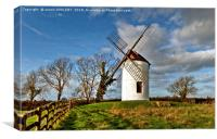 Ashton Windmill Chapel Allerton Somerset, Canvas Print