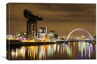 Clydeside By Night, Canvas Print