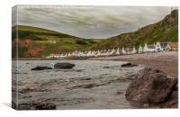 Village By The Sea, Canvas Print